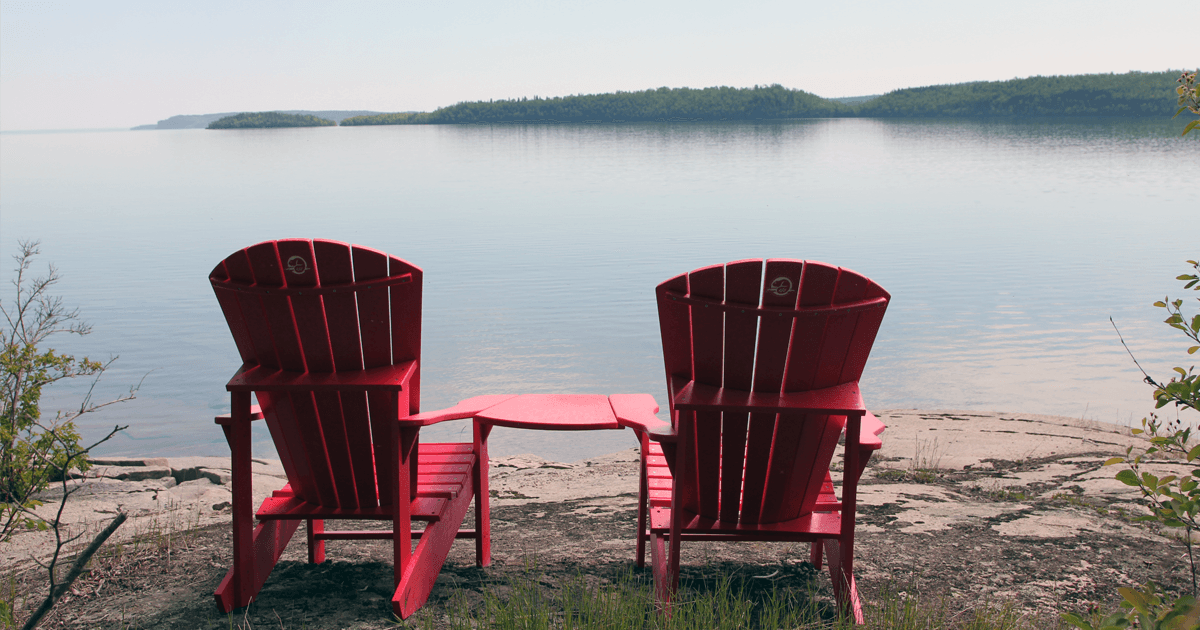 Seek out the Parks Canada Red Chairs in the Lake Superior NMCA